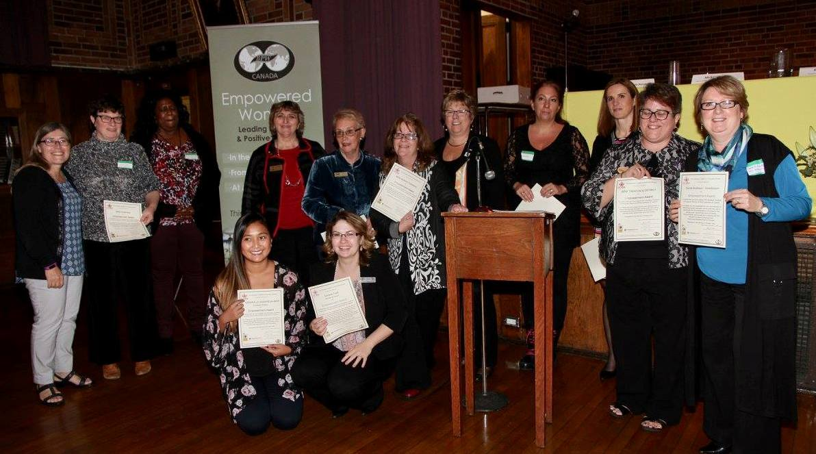 Recognition of CCEW signatories at Womens Empowerment Community Building Event Clarington